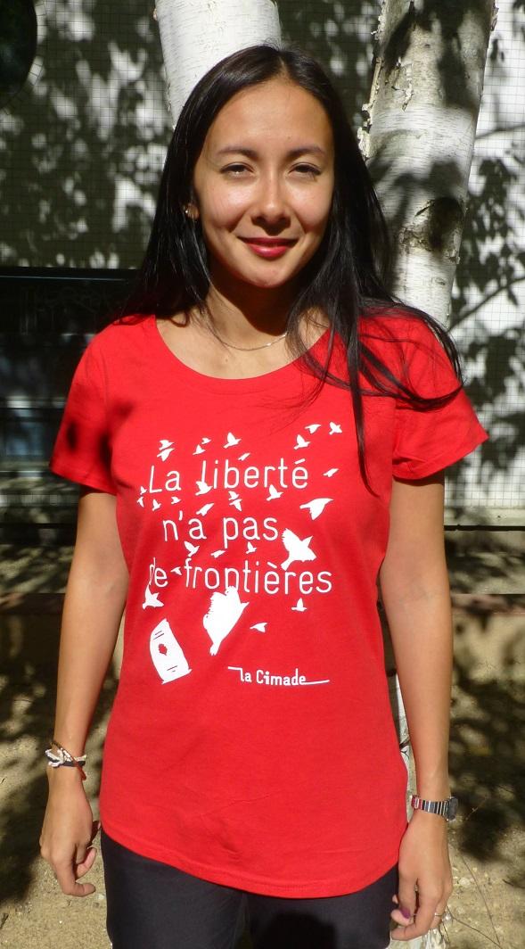 """T shirt femme liberté - T-shirt Femme """"La liberté n'a pas de frontières"""""""