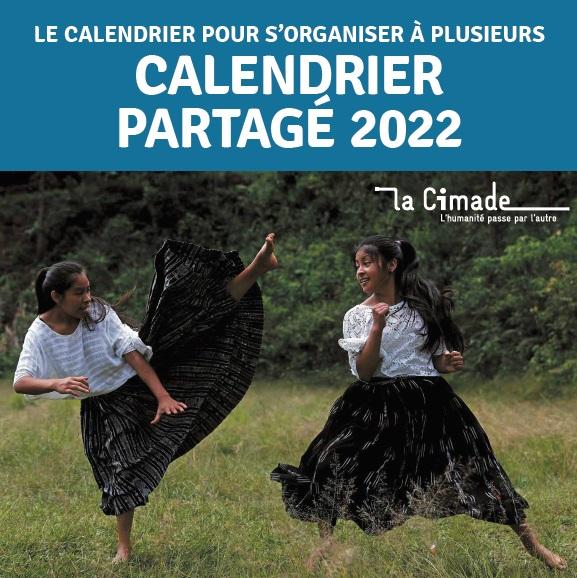 Couv cal partage 2022 - Calendrier partagé 2022
