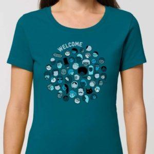 """T shirt welcome femme mini 300x300 - T-shirt femme """"Welcome"""""""