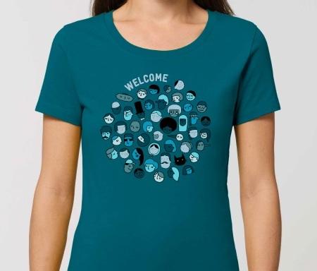 """T shirt welcome femme mini - T-shirt femme """"Welcome"""""""