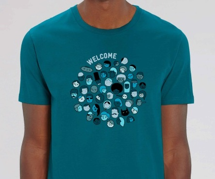 "T shirt welcome homme mini - T-shirt homme ""Welcome"""